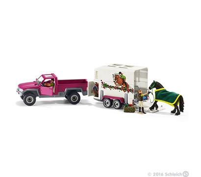 Schleich Pick-up mit Pferdeanhänger