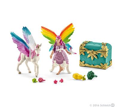 Schleich Regenbogenelfe Lis mit Pegasus Fohlen
