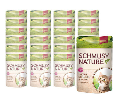 Schmusy Nature Kitten, Nassfutter, 24 x 100 g