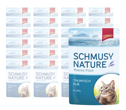 Schmusy Nature Meeres-Fisch in Jelly, Nassfutter, 24 x 100g