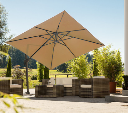 schneider ampelschirm rhodos twist ca 300 x 300 cm dehner garten center. Black Bedroom Furniture Sets. Home Design Ideas