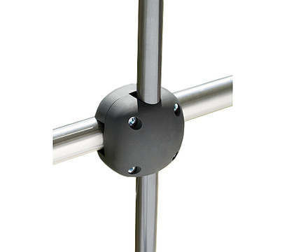 schneider balkon schirmhalter foxi schwarz 24 mm. Black Bedroom Furniture Sets. Home Design Ideas