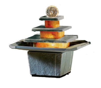 Seliger Zimmerbrunnen Mandala, Schiefer