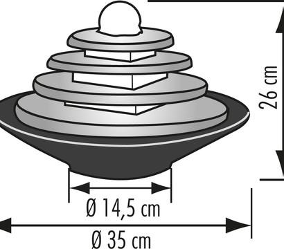 seliger zimmerbrunnen tao schiefer dehner garten center. Black Bedroom Furniture Sets. Home Design Ideas