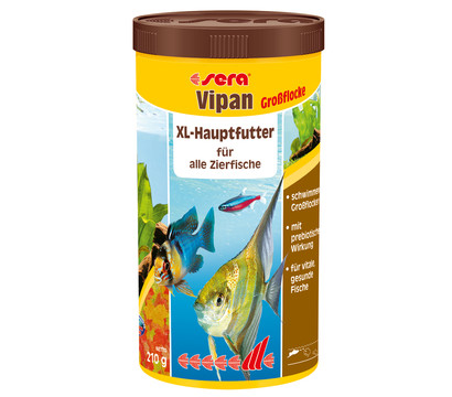 sera Vipan Großflockenfutter,1000 ml