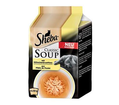 Sheba Classic Soup Hühnchen Multipack, Nassfutter, 4 x 40 g
