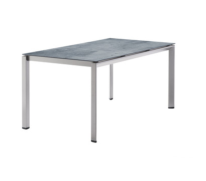 Sieger Gartentisch Yara, 160 x 90 74 cm, graphit/zement