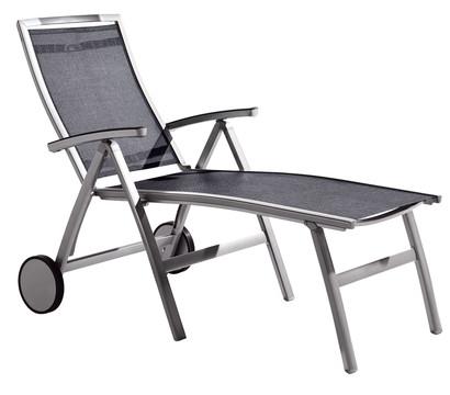 sieger trento klapprollliege aluminium textilux 192x79x115 cm dehner garten center. Black Bedroom Furniture Sets. Home Design Ideas