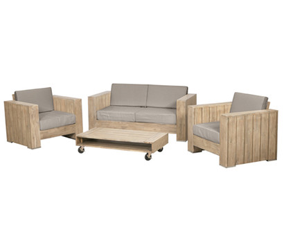 siena garden lounge set halmstad 4 teilig dehner garten. Black Bedroom Furniture Sets. Home Design Ideas