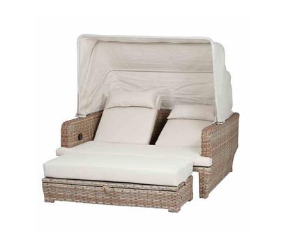siena garden loungeinsel lobos inkl dach natur natur dehner garten center. Black Bedroom Furniture Sets. Home Design Ideas
