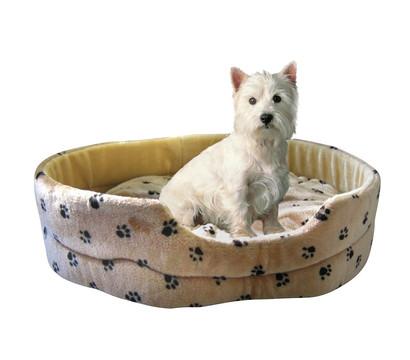SILVIO Design Hundebett Silvio mit Pfotenmotiv