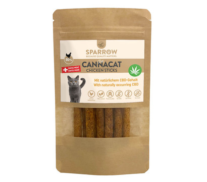 SPARROW Pet Katzensnack CannaCat Chicken Sticks