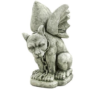 Stein drache sitzend mit kette 40 x 25 x 48 cm dehner for Gartenfiguren stein