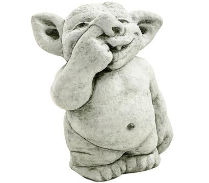 Stein troll finger in der nase 19 x 26 x 32 cm dehner for Gartenfiguren stein