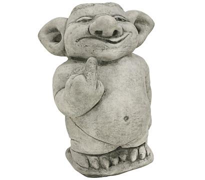 Stein troll stinkefinger 14 x 19 x 25 cm dehner garten for Gartenfiguren stein