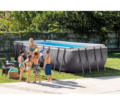 Steinbach pool ultra quadra 732 x 366 x 132 cm dehner for Garten pool 366