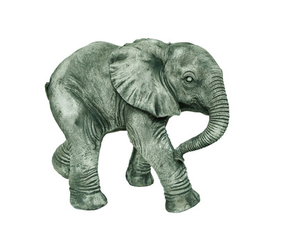 Stein-Elefant laufend, ca B42/H34/T25 cm