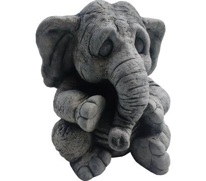 Stein-Elefant Mike, ca. B25/H29/T27 cm