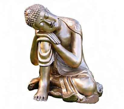 Steinfigur Buddha Gold Dehner Garten Center