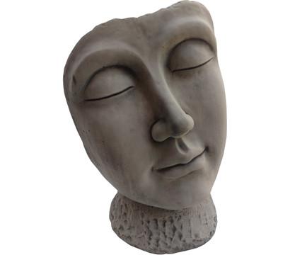 Stein-Figur Gesicht, ca. B36/H53/T23 cm