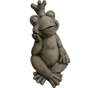 Stein-Froschkönig, ca. B31/H50/T33 cm