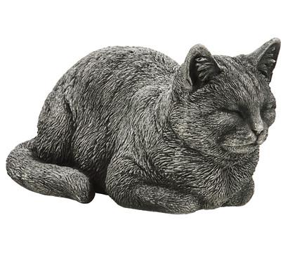Stein-Katze liegend, 19 x 35 x 17 cm