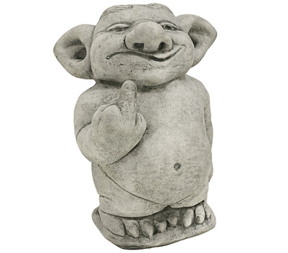 Stein-Troll Stinkefinger, 14 x 19 x 25 cm