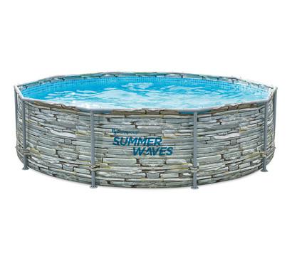 Summer Waves Frame Pool Steinoptik