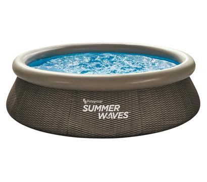 Summer Waves Rundpool Rattan, braun