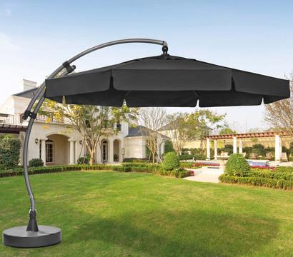 sun garden ampelschirm easy sun 350 cm silber. Black Bedroom Furniture Sets. Home Design Ideas
