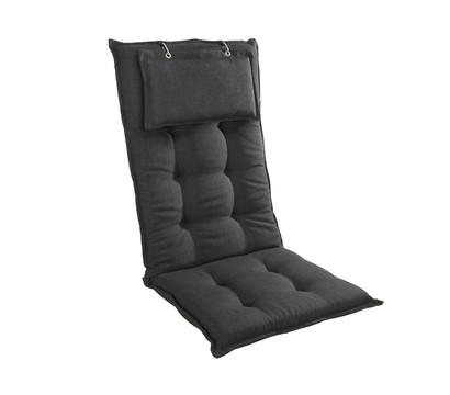 sun garden hochlehnerauflage uni grau dehner garten center. Black Bedroom Furniture Sets. Home Design Ideas