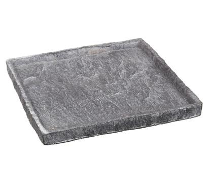 tablett in stein optik eckig grau 2 x 24 x 24 cm dehner garten center. Black Bedroom Furniture Sets. Home Design Ideas