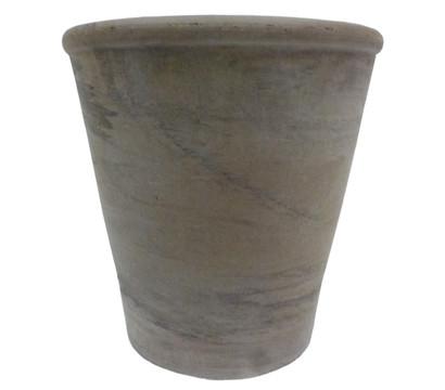 Terrakotta Topf, rund, basalt