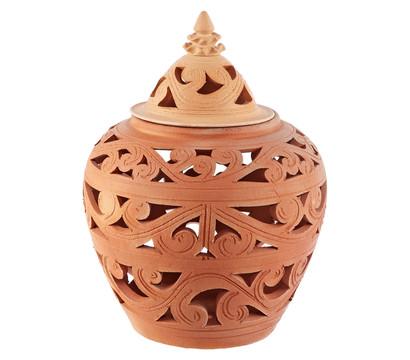 Terrakotta vasenlampe chang rund dehner garten center for Terracotta gartendekoration