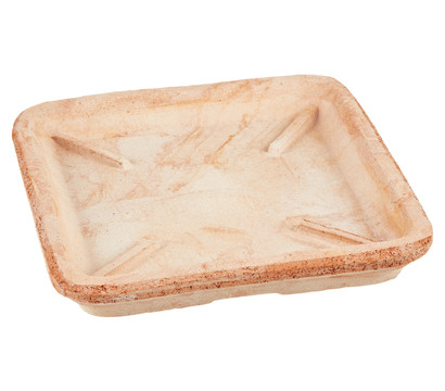 Terrakotta-Untersetzer, quadratisch, terrakotta-antik
