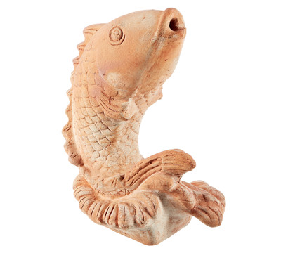 Terrakotta-Wasserspeier Fisch, 27 x 16 x 33 cm