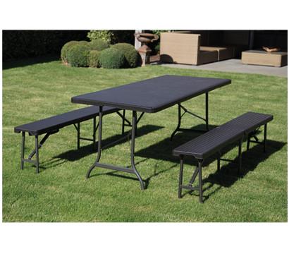 toolland klappbank rattan look schwarz dehner garten center. Black Bedroom Furniture Sets. Home Design Ideas