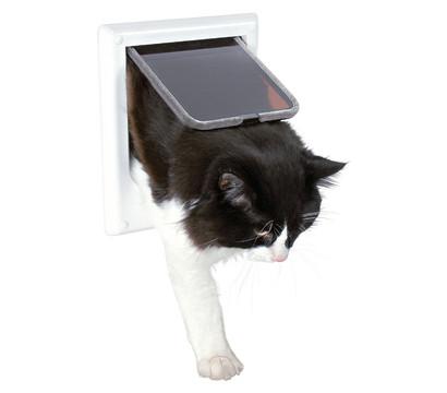 trixie katzenklappe 4 wege freilauft r dehner garten center. Black Bedroom Furniture Sets. Home Design Ideas