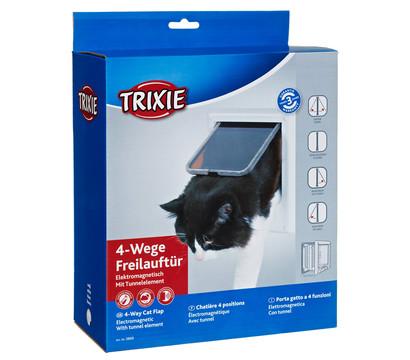 Trixie Katzenklappe 4-Wege-Freilauftür, elektromagnetisch, 15,8 x 14,7 cm