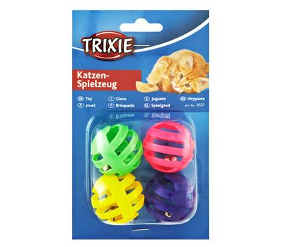 Trixie Katzenspielzeug Rasselbälle, 4 Stk.