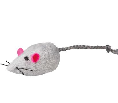 Trixie Mouse House, Set Plüschmäuse mit Katzenminze