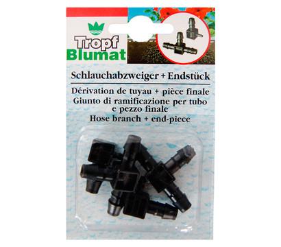 Tropf-Blumat Schlauchabzweiger Endstück und Verbinder, je 2 Stk.