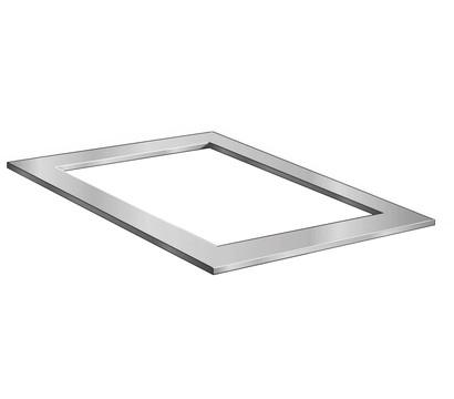 Ubbink Edelstahl-Rahmen Quadra Inox Frame, ca. B120/H2/T82 cm