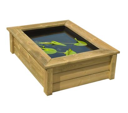 Ubbink Holz-Umrandung Quadro Wood I, ca. B119,4/H33,8/T90,5 cm