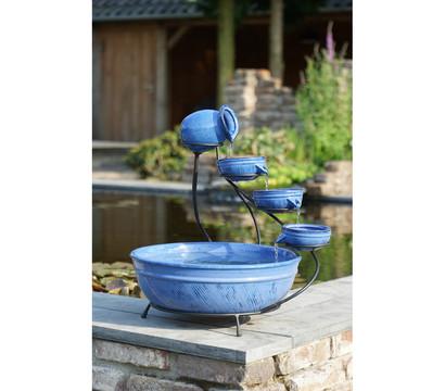 Ubbink Keramik-Gartenbrunnen, blau, 51 x 51 x 60 cm