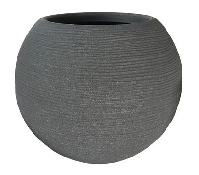 Vasar Kunststoff-Pflanztopf Shabby Caspo, rund, Ø 40 cm, anthrazit