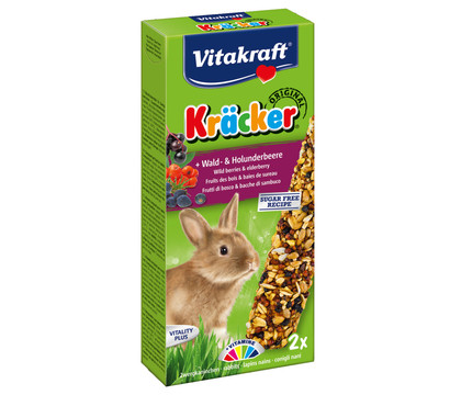 Vitakraft Kräcker Original mit Wald- & Holunderbeere für Zwergkaninchen