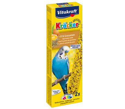 Vitakraft® Vogelsnack Kräcker® Original, Ei & Grassamen für Wellensittiche