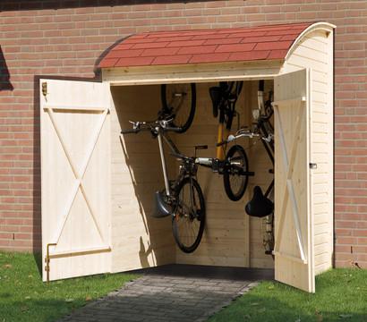 weka fahrradgarage 134 x 160 x 223 cm dehner. Black Bedroom Furniture Sets. Home Design Ideas