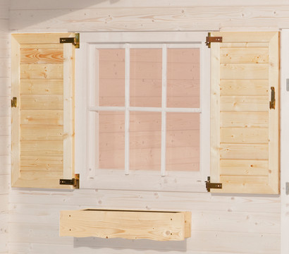 Weka Fensterladen und Blumenkasten
